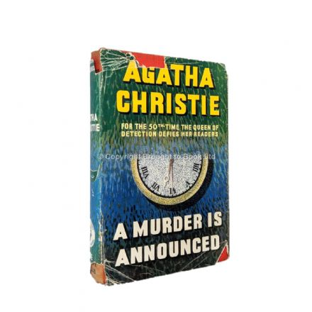 A Murder is Announced by Agatha Christie First Edition The Crime Club by Collins 1950